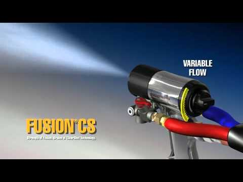 fusion cs spray gun - youtube