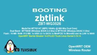 Booting Wireless openWRT Router ZbtLink ZBT-WG3526
