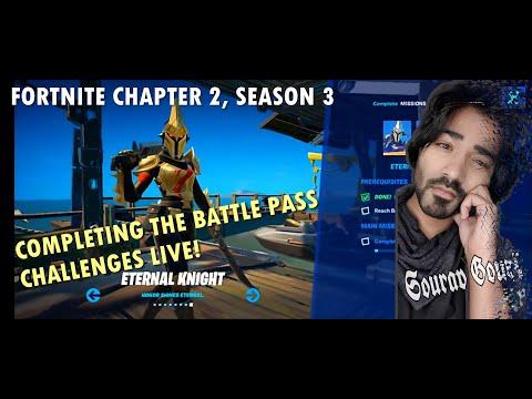 Completing Fortnite Week 2 Challenges LIVE!