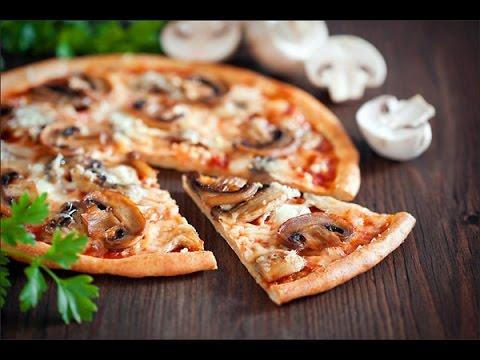 Пицца с грибами/ рецепт приготовления пиццы