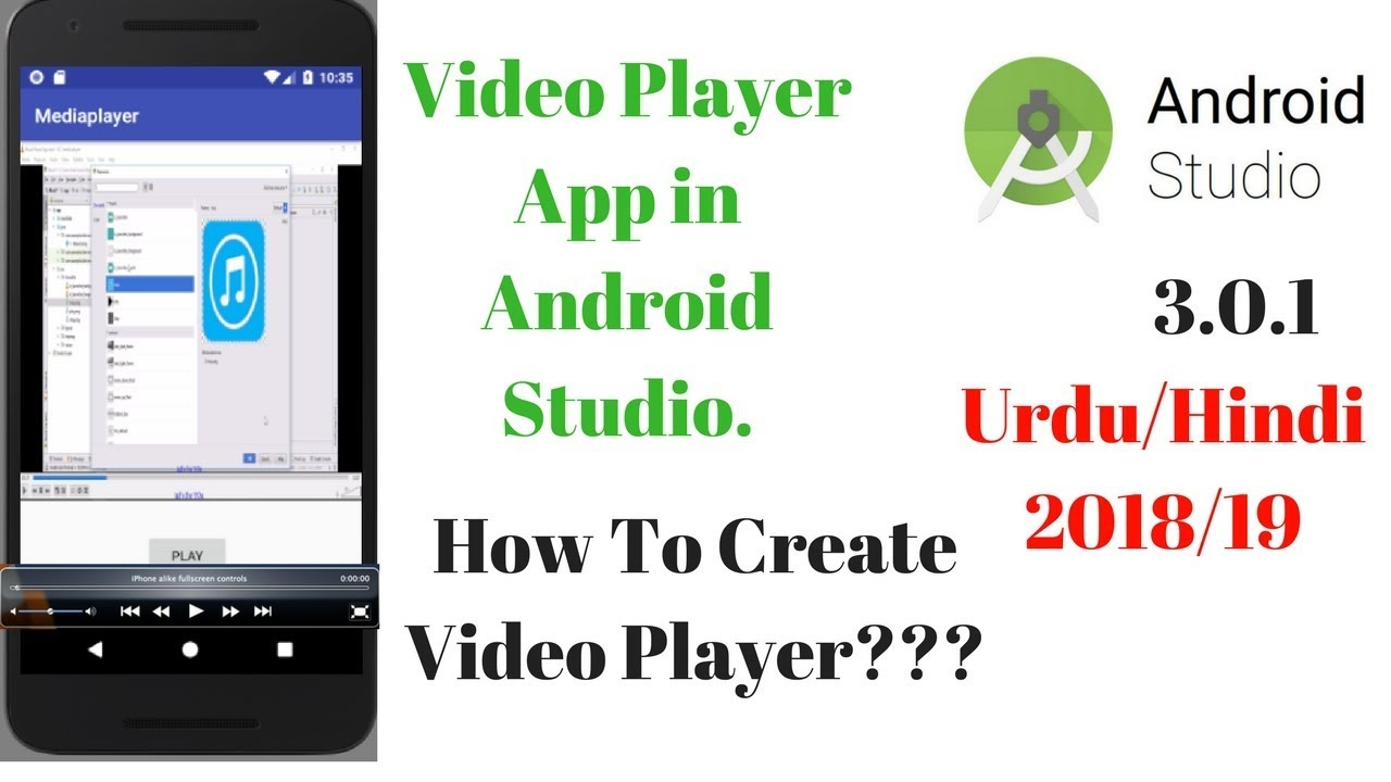 Video player app in Android Studio 3 0 1