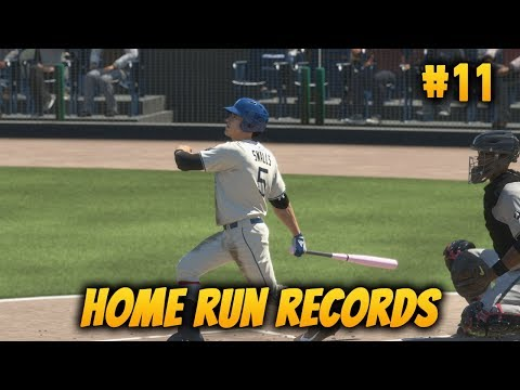 MLB The Show 18 Road to the Show - Home Run Records!?! Miggie Smalls 99 OVR Good Hands Ep. 11