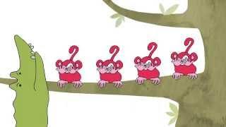 5. Fem små aber - Sangskattekisten