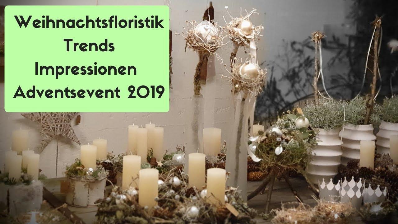 trend floristik weihnachten 2019 deko ideen und mehr impressionen adventsevent flora line