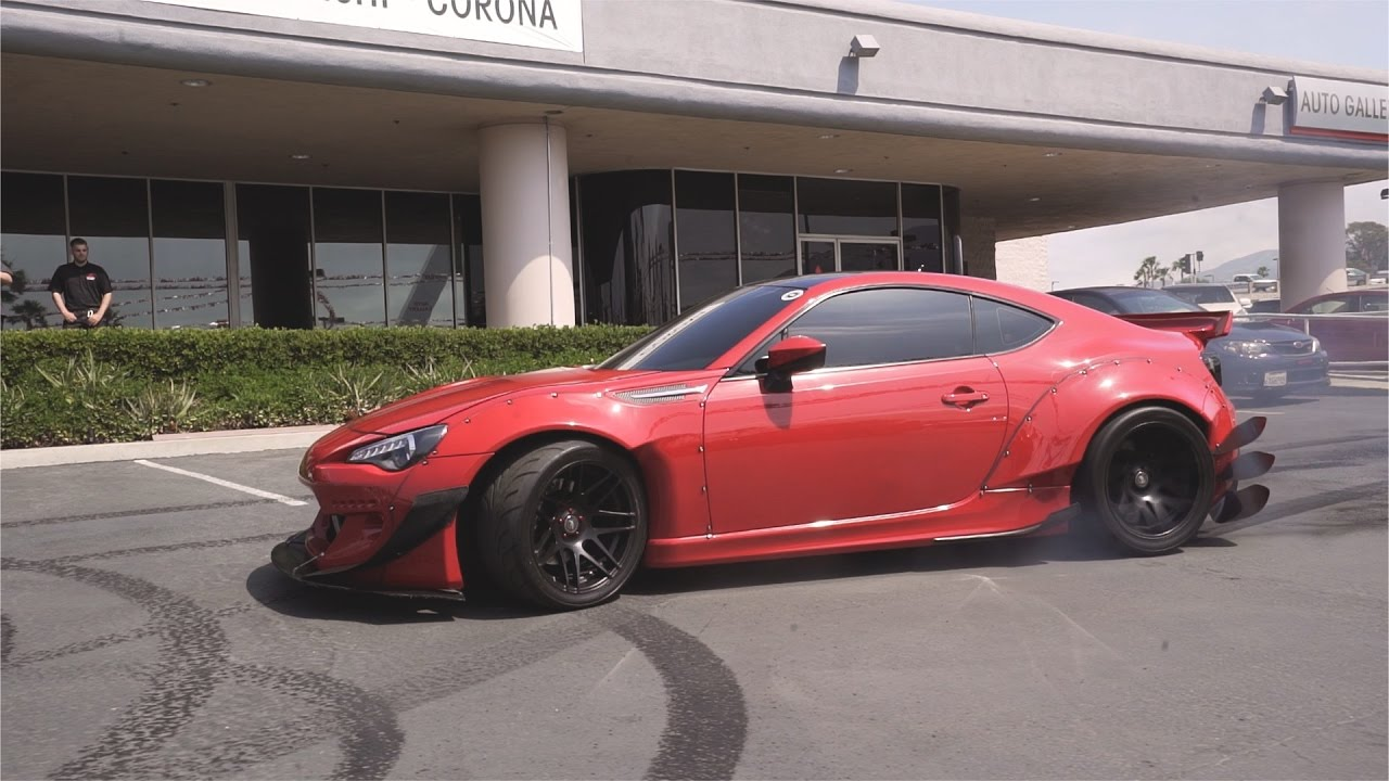 Corona Auto Body >> LS SWAP FRS WIDEBODY DONUTS AT A DEALERSHIP - YouTube