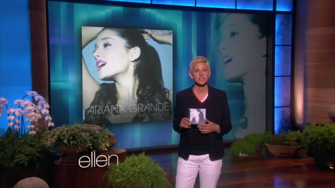 the way by ariana grande on ellen show youtube