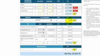 Free payroll tax, paycheck calculator