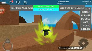 How to train in peace in the Roblox's Dragoon Ball game