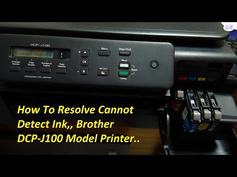 How To Resolve Cannot Detect Ink Problem In Brother DCP-J100