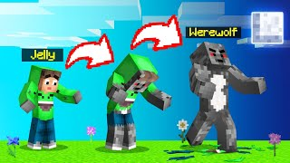 I Turned Into A WEREWOLF In MINECRAFT! (Full Moon)