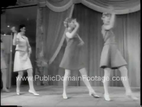 Sexy New York 1960's Fashion Show in Europe PublicDomainFootage.com