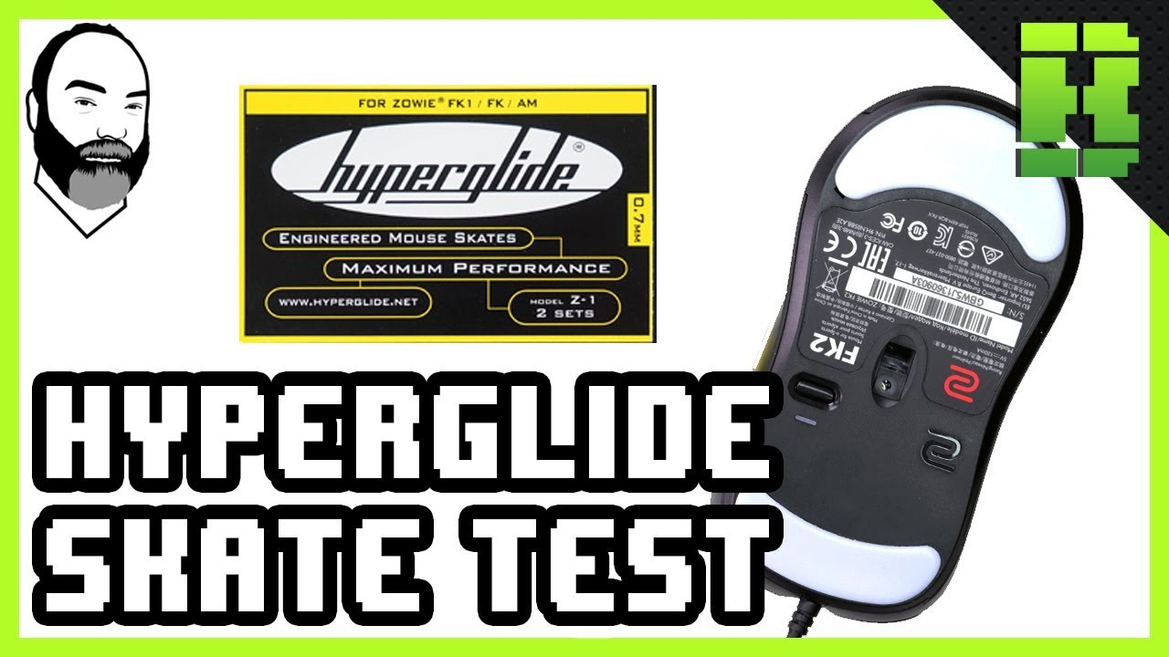 Hyperglide Mouse Skates Test Using The Zowie FK2 Gaming mouse Feet