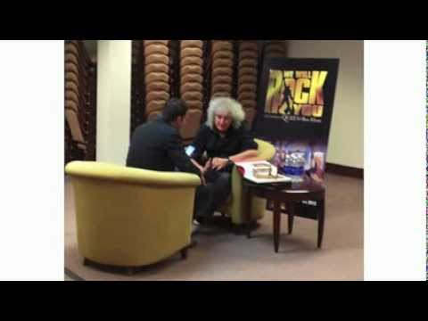 Brian May with Reagan Warfield Mix106.5 Baltimore 15 Oct 2013