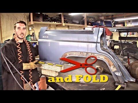 XJ Cut and Fold Mod - Rear Quarter Panel