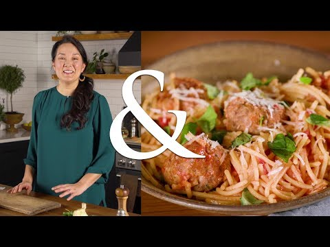 Ann Pittman's Secret Ingredient Gluten-Free Spaghetti and Meatballs | F&W Cooks | Food & Wine