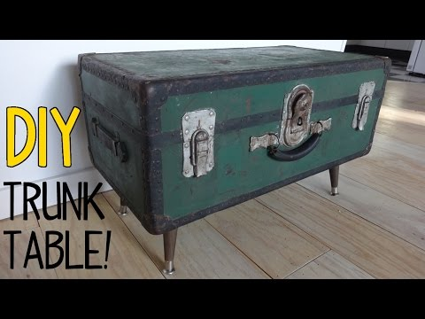 How to Make a Vintage Trunk Table!