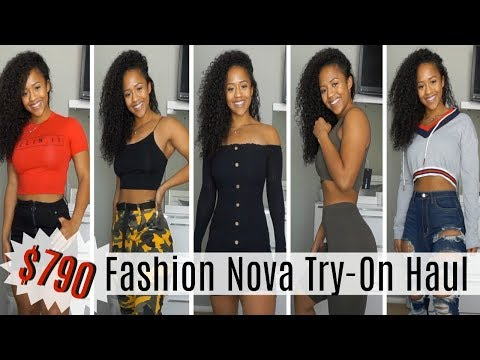 d85505f00 $790 FASHION NOVA TRY-ON HAUL | Clothes That Actually Fit My Curves 🍑 -  YouTube