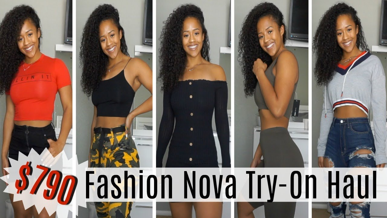9ff77cb39 $790 FASHION NOVA TRY-ON HAUL | Clothes That Actually Fit My Curves ...