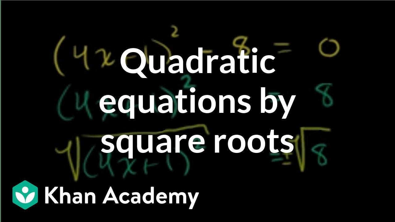 How to find a direct relationship from a quadratic?
