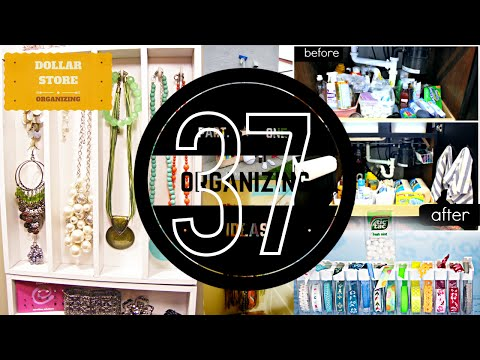 37 Organizing ideas  #1 [With Dollar Store Organization Tips]