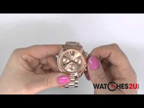 d2c254482d5 Michael Kors Ladies Chronograph Gold Tone Steel Bracelet Watch ...