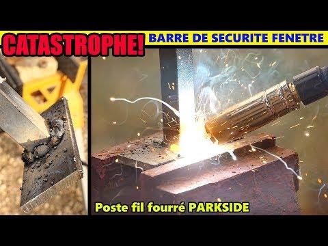 Catastrophe ! Soudure Barre De Fenêtre - Poste à Souder Fil Fourré PARKSIDE LIDL PFDS 33