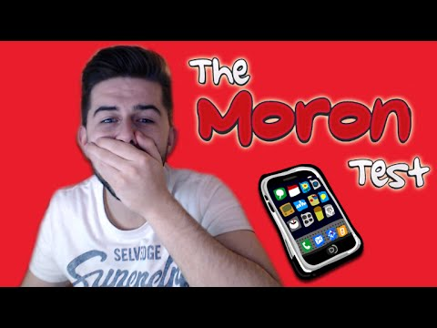 THE MORON TEST - I'm Actually Really Stupid (Fun Iphone Games)