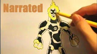 How To Draw Heatblast From Ben 10 Omniverse How To Draw Ben 10 Ultimate Alien Characters