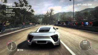 GRID 2 PC Multiplayer Race Gameplay: Tier 4 Fully Upgraded Zenvo ST1 in Hong Kong, Peak Road Descent