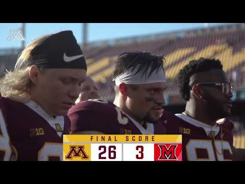 Gopher - HIGHLIGHTS: Gopher Football beats Miami-Ohio 26-3 | #KFANGophers