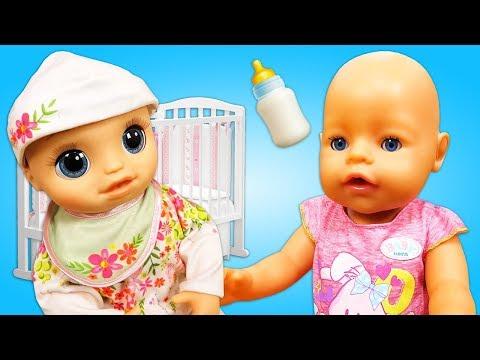 Подружка Беби Бон Baby Alive - распаковка куклы. Видео для девочек Как мама