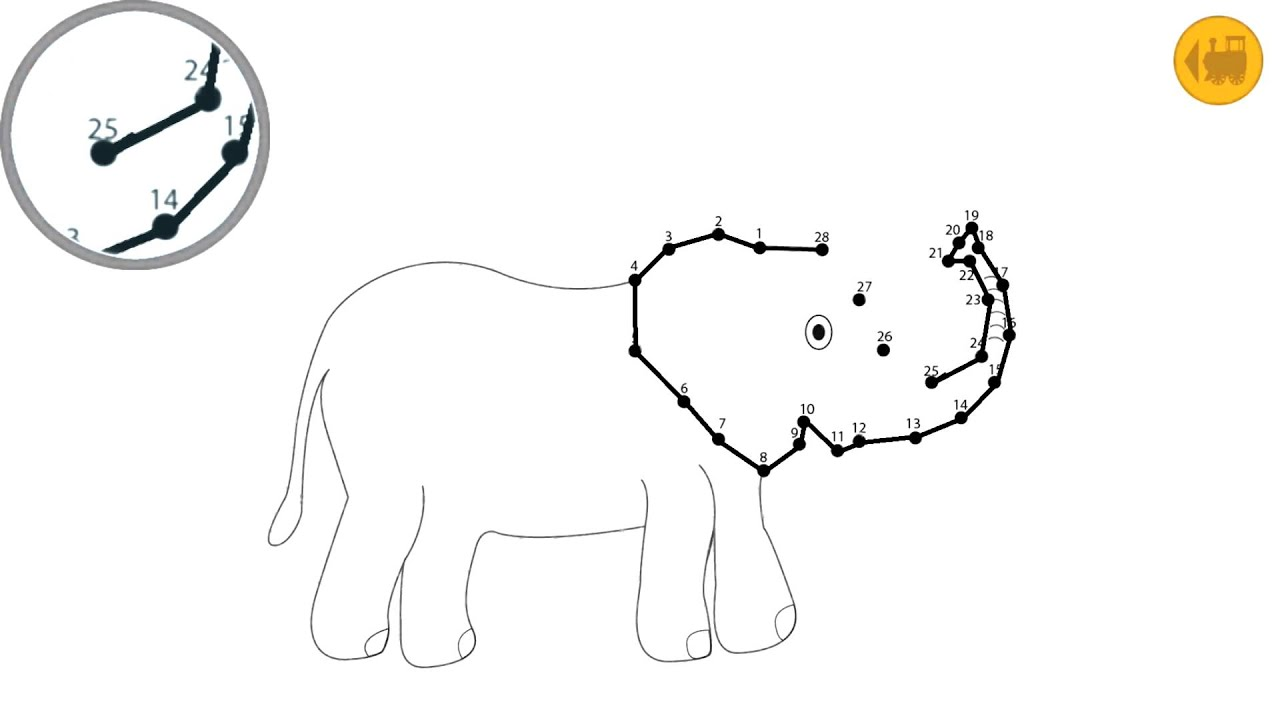 kids connect the dots game elephant youtube