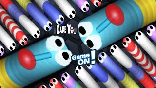 Slither.io - I Dare You & Game On!!! | Slitherio Trolling Moments