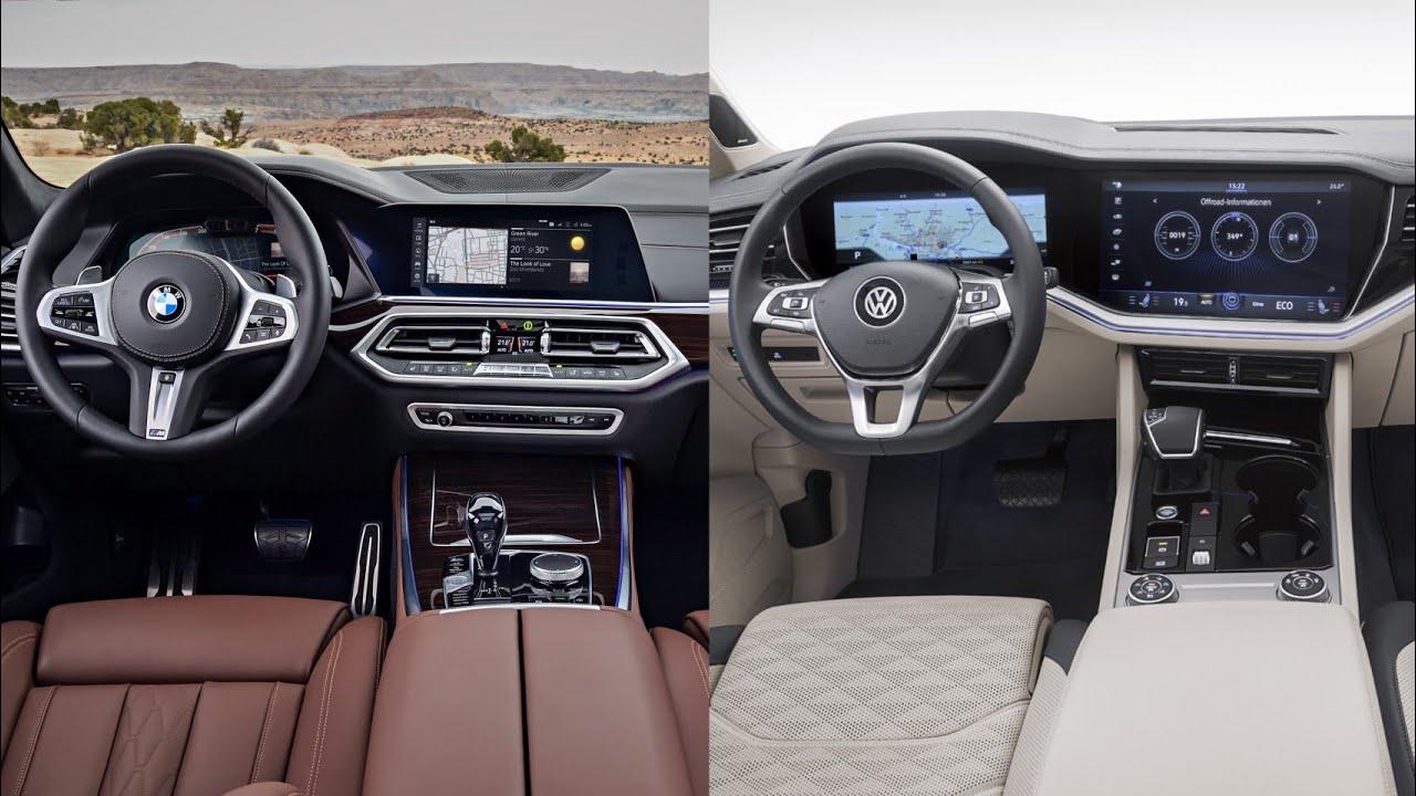 2019 bmw x5 vs 2019 vw touareg - interior