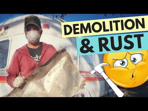 AIRSTREAM RENOVATION: Demolition & Rust 😬🇺🇸Vintage Airstream Argosy Rebuild for RV Living