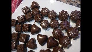 BOMBONES DE CHOCOLATE Rellenos con Dulce de Leche
