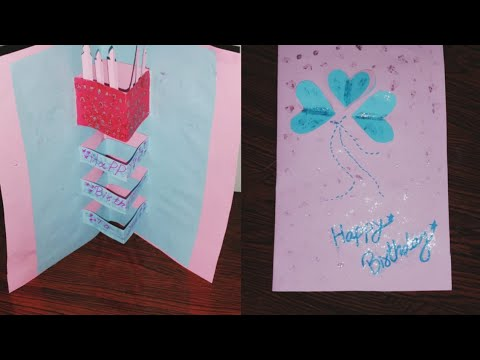 POP UP | DIY | Birthday card making using by ORIGAMI paper | DollHouse