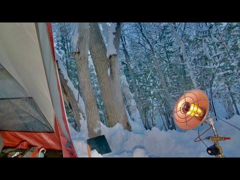 [꿀밤] 혹한기 눈꽃 백패킹: 콩나물 조개탕, 연어구이 겨울캠핑
