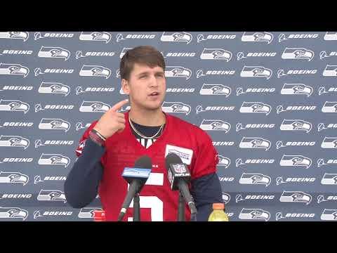 Seahawks Quarterback Alex McGough Rookie Minicamp Press Conference