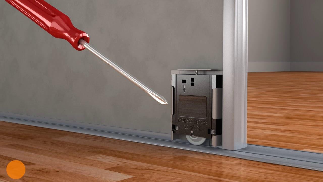 comment poser des portes de placard coulissantes optimum