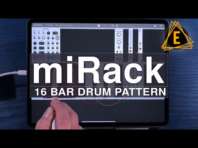miRack - How To Make 16 Bar Drum Patterns - Beginner Friendly Tutorial!