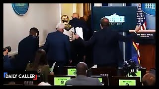 Press Goes Wild As Pence Leaves Press Conference