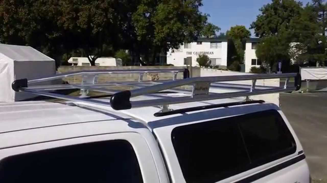 Toyota Tacoma Roof Rack Double Cab >> A.R.E. V-Series Shell with Allure Roof Rack On Toyota Tacoma Double Cab - YouTube
