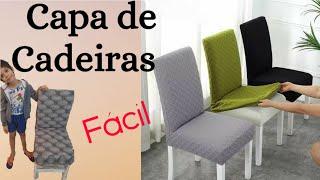 Capa para Cadeiras – Simples, Fácil e Barata