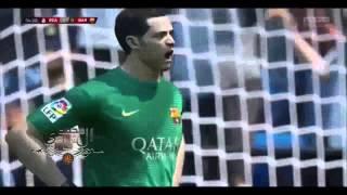 """حارس برشلونه برافو يتلقى أول هدف في مرماهـ هذا الموسم في الليغا , وبطريقة لاتصدق من """" الدون """""""