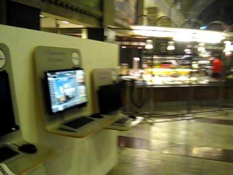Stockholm Central station internet cafe