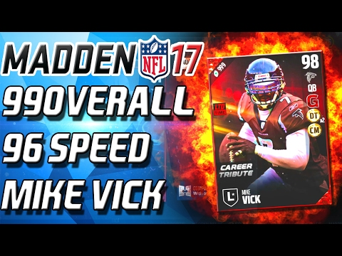 99 OVERALL MIKE VICK! 96 SPEED! INSANE STATS!- Madden 17 Ultimate Team