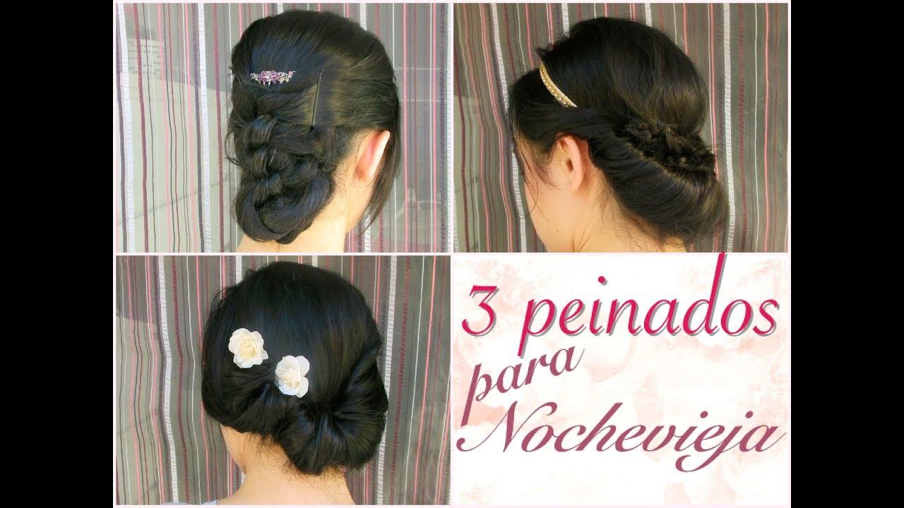 3 Peinados Faciles Y Rapidos Para Nochevieja Hair Tutorial