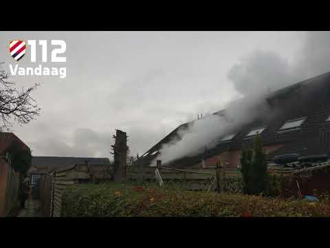 Brand aan achterzijde woning in Vlijmen