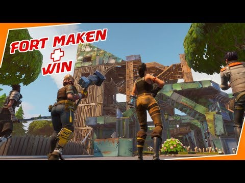 EPISCHE WIN + MEGA FORT MAKEN! - (Fortnite Battle Royale)